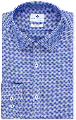 Ryan Seacrest Distinction Men's Ultimate Slim-Fit Non-Iron Performance Stretch Pattern Dress Shirt