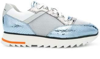 Santoni colour block flatform sneakers