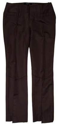 Gucci Mid-Rise Wide-Leg Pants Brown Mid-Rise Wide-Leg Pants