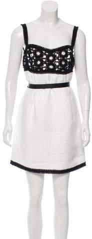 Andrew Gn Andrew Gn Eyelet-Accented Colorblock Dress