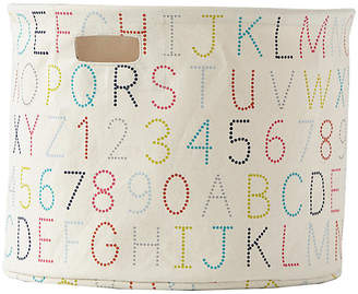Pehr Designs Alphabet Drum Storage - Beige
