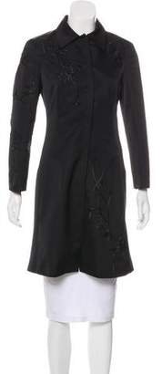 Alberta Ferretti Embroidered Lightweight Coat
