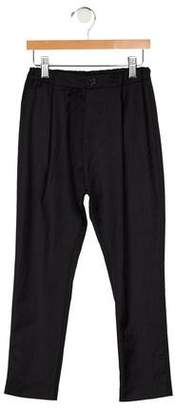 Paade Mode Boys' Pleated Wool Pants
