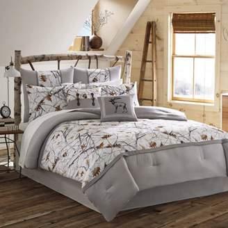 True Timber Pieced Stripe Bedding Comforter Set, Brown