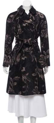 Alberta Ferretti Printed Cord Knee-Length Coat