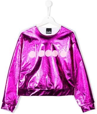 Diadora Junior TEEN logo print sweatshirt