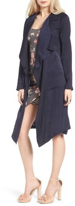 Women's Leith Satin Trench Coat $89 thestylecure.com