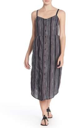 Susina Textured Stripe Button Front Midi Dress (Regular & Petite)