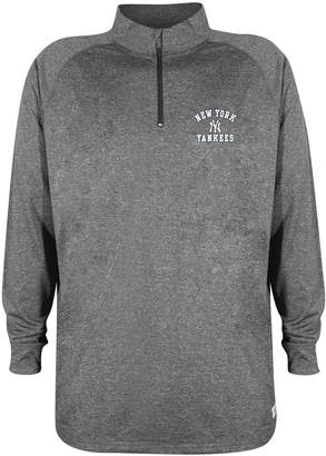 Stitches Men's New York Yankees Charcoal Fleece Pullover