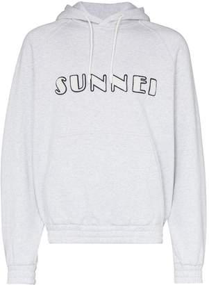 Sunnei textured logo hoodie
