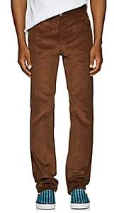 Maison Margiela Men's Cotton-Corduroy Trousers-Rust