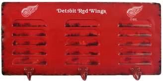 Detroit Red Wings 3-Hook Metal Locker Coat Rack