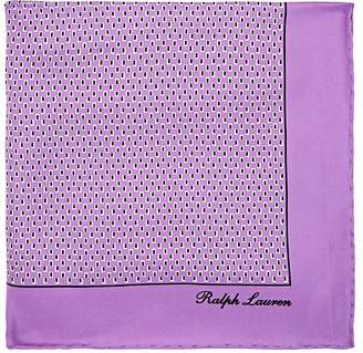 Ralph Lauren Purple Label Men's Rectangle-Print Silk Pocket Square