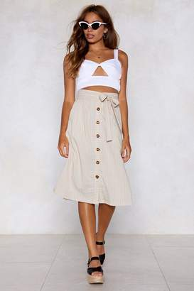 Nasty Gal Keep It Together Button Skirt