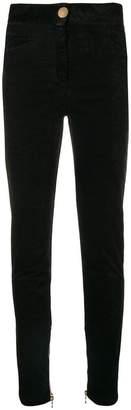 Balmain velour skinny trousers