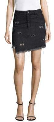 Sandy Liang Embellished Crombie Cotton Skirt