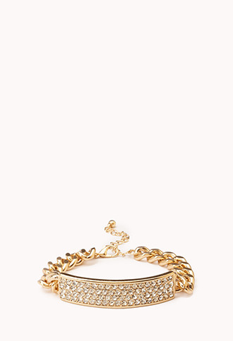 Forever 21 Glam Curb Chain ID Bracelet