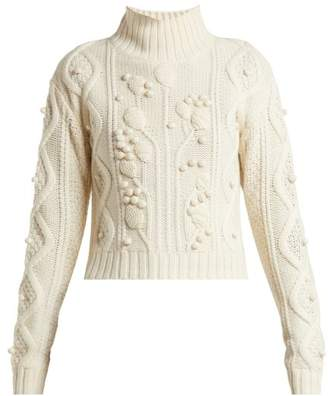 Joseph Wool Knit High Neck Sweater - Womens - Cream