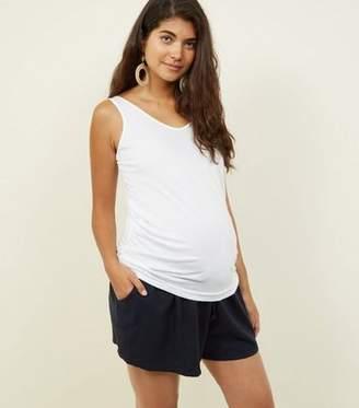 New Look Maternity Navy Linen Blend Shorts