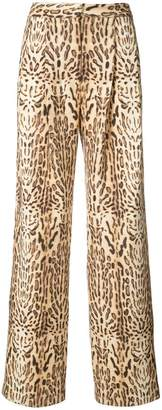 ADAM by Adam Lippes Ocelot printed pleat front trousers