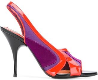 Emilio Pucci colour block sandals