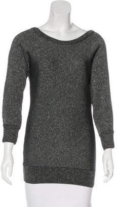Dolce & Gabbana Metallic Rib Knit Sweater