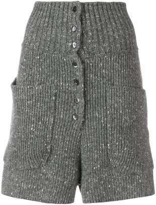 high waisted knit shorts