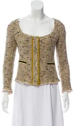 Prada Tweed Scoop Neck Jacket