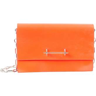 M2Malletier Orange Leather Clutch Bag