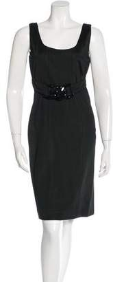 Versace Belted Sheath Dress