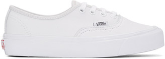 Vans White OG Authentic LX Sneakers $85 thestylecure.com