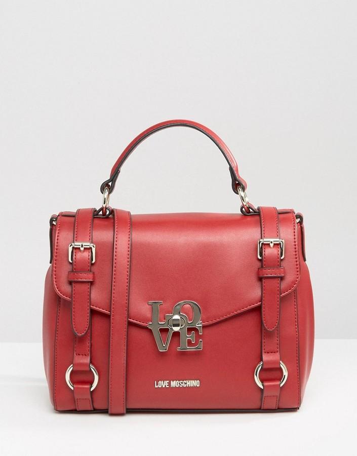 Love MoschinoLove Moschino Satchel Buckle Tote Bag