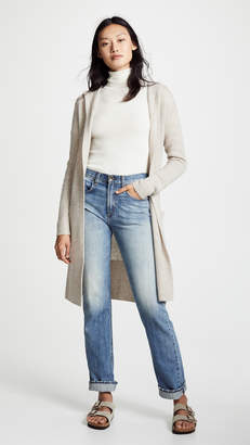 White + Warren Luxe Hooded Cashmere Cardigan