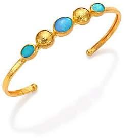 Gurhan Women's Amulet Hue Blue Opal & 24K Yellow Gold Cuff Bracelet