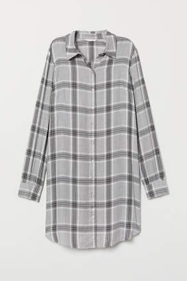 H&M Checked Shirt Dress - Gray