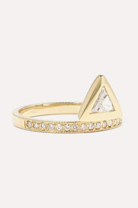 Jacquie Aiche 14-karat Gold Diamond Ring