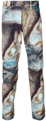 G Star Research abstract print trousers