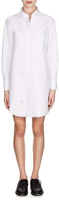 Thom Browne Women's Frayed Cotton Oxford Cloth Shirtdress