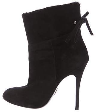 Cesare Paciotti Suede Round-Toe Ankle Boots