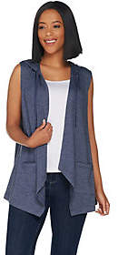 LOGO by Lori Goldstein LOGO Lounge by Lori Goldstein French TerryHooded Vest
