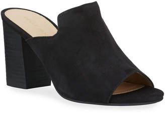 Pelle Moda Blair Suede Block-Heel Slide Mules
