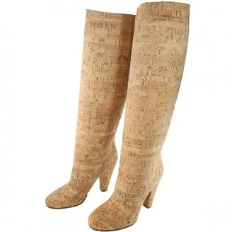 Maison Margiela Beige Leather Boots