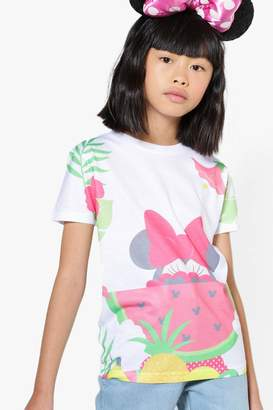 boohoo Girls Disney Minnie Watermelon Tee