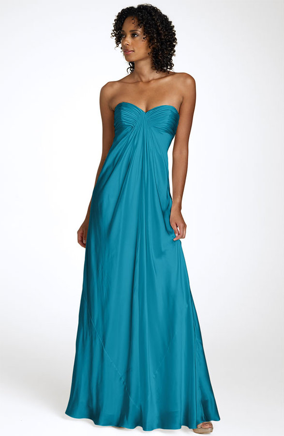 Laundry by Shelli Segal Strapless Charmeuse Gown