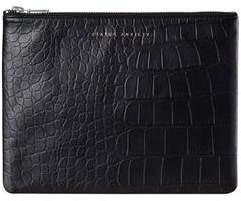 Status Anxiety Anti-Heroine Clutch Black Croc Wallet