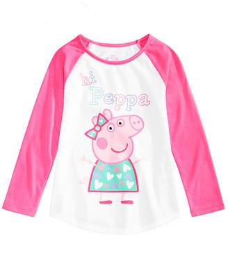 Peppa Pig Toddler Girls Graphic-Print Raglan T-Shirt