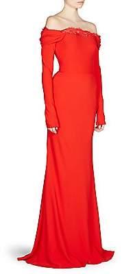 Alexander McQueen Women's Draped Off-The-Shoulder Gown