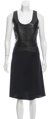 3.1 Phillip Lim Leather & Silk Dress