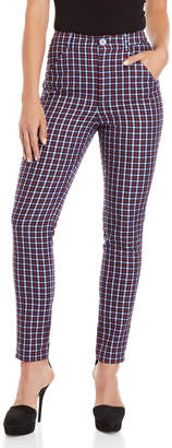Sonia Rykiel Sonia By Tartan High-Waisted Pants