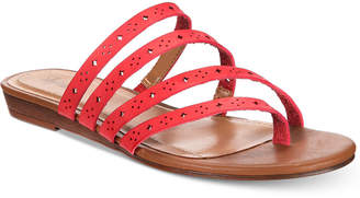 Style&Co. Style & Co Barrees Strappy Flat Sandals, Created for Macy's Women's Shoes